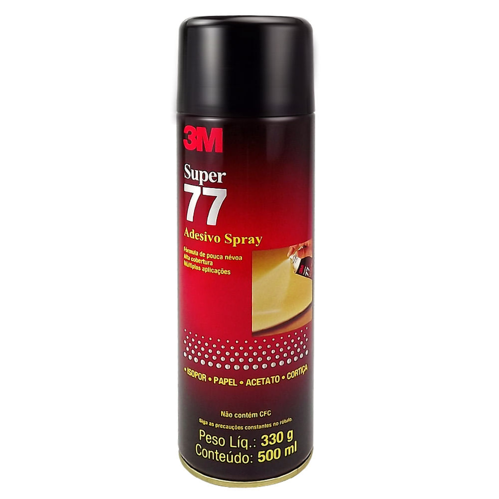 Adesivo Spray Super 77 Para Isopor, Papel, Acetato e Cortiça 330g 3M