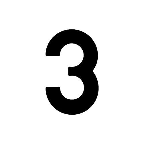 Numero-3-em-Aco-Preto-145mm---Bemfixa