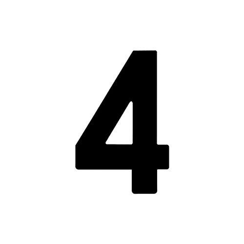 Numero-4-em-Aco-Preto-145mm---Bemfixa