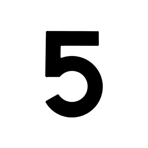 Numero-5-em-Aco-Preto-145mm---Bemfixa