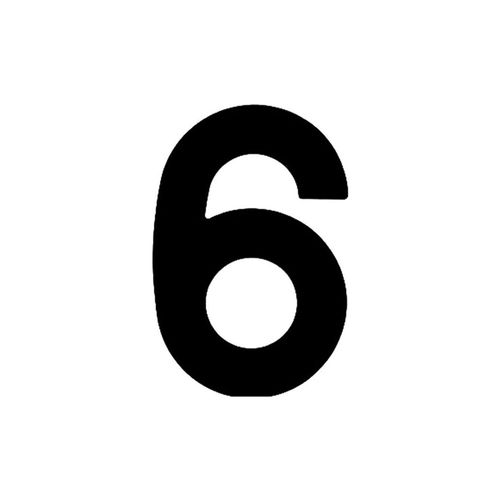 Numero-6-em-Aco-Preto-145mm---Bemfixa