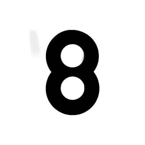 Numero-8-em-Aco-Preto-145mm---Bemfixa