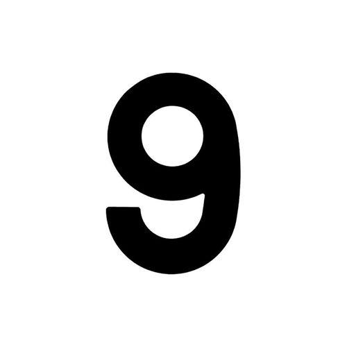 Numero-9-em-Aco-Preto-145mm---Bemfixa