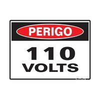 PLACA-SINALIZE-DE-SINALIZACAO-PERIGO-110-VOLTS-15X20CM