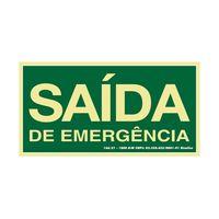 PLACA-SINALIZE-SINALIZACAO-SAIDA-DE-EMERGENCIA-15X30CM