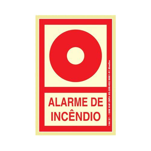 PLACA-SINALIZE-DE-SINALIZACAO-ALARME-DE-INCENDIO-135X20CM