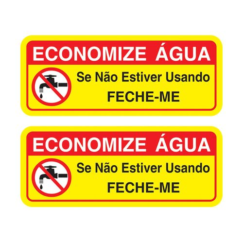 PLACA-SINALIZE-DE-SINALIZACAO-ECONIMIZE-AGUA-06X15CM