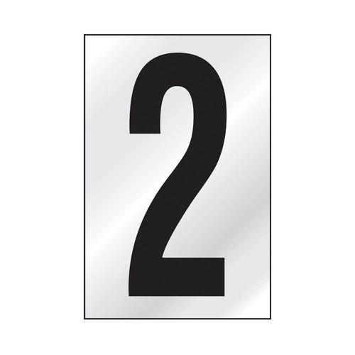PLACA-SINALIZE-DE-SINALIZACAO-NUMERAL-2--25X5CM