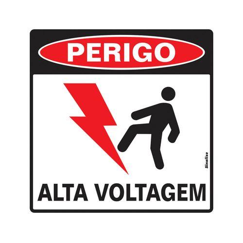PLACA-SINALIZE-DE-SINALIZACAO-PERIGO-ALTA-VOLTAGEM-45X45CM