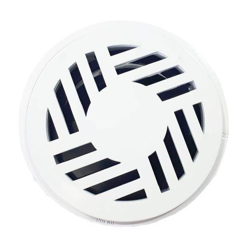 RALO-DENGUE-GARAPLAS-REDONDO-PVC-BRANCO-COM-CAIXILHO-100MM