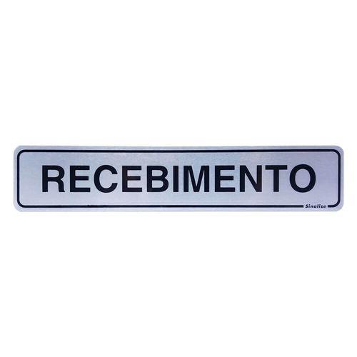 PLACA-SINALIZE-DE-SINALIZACAO-RECEBIMENTO-ALUMINIO-5X25CM