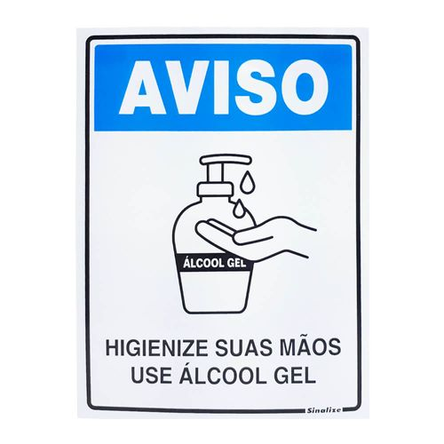 PLACA-DE-SINALIZACAO-SINALIZE-USE-ALCOOL-GEL-15X20CM