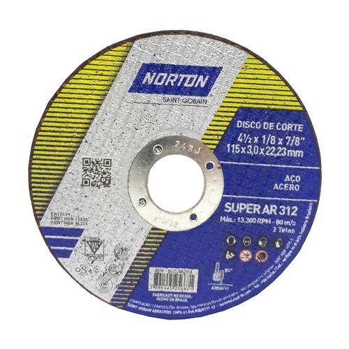 DISCO-NORTON-DE-CORTE-SUPER-AR312-PARA-ACO-4-1-2-POLEGADAS