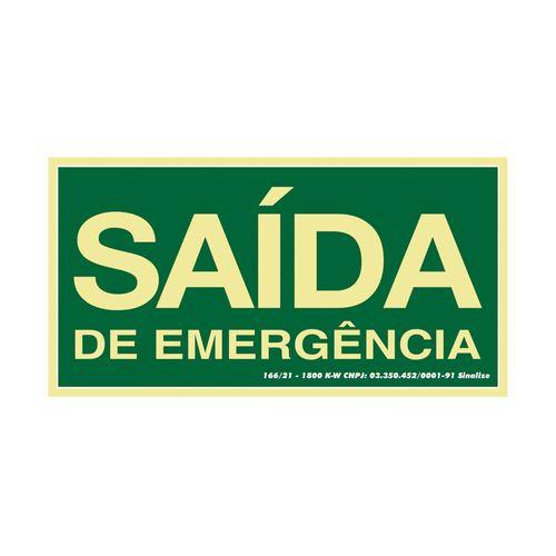 PLACA-SINALIZACAO-SINALIZE-SAIDA-DE-EMERGENCIA-15-X-30CM