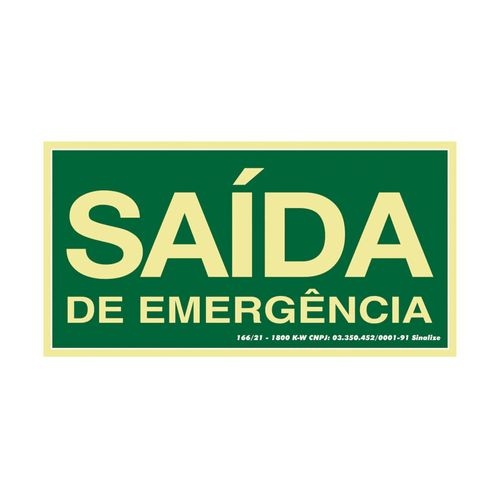 PLACA-SINALIZACAO-SINALIZE-SAIDA-DE-EMERGENCIA-20-X-40CM