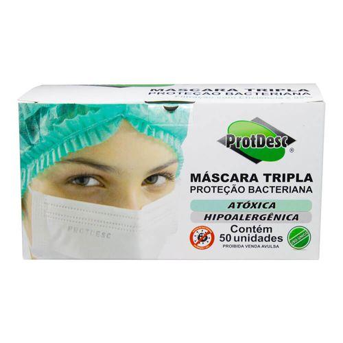 MASCARA-TRIPLA-PROTECAO-PROTDESC-DESCARTAVEL-50UN
