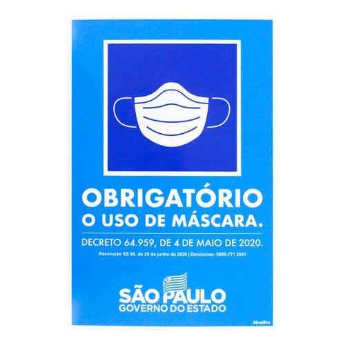 PLACA-SINALIZACAO-SINALIZE-OBRIGATORIO-USO-MASCARA-20-X-30CM