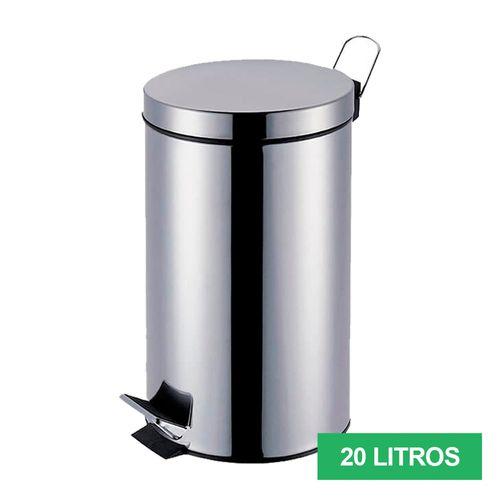 LIXEIRA-INOX-COM-PEDAL-MOR-AGATA-20-LITROS